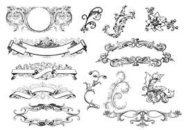 antique scroll ornament vectors free vector stock