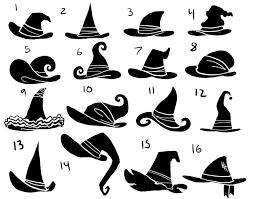 eri kawakami witch hat silhouettes halloween decor pinterest