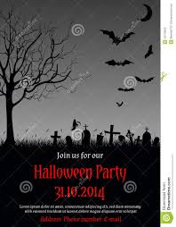 halloween party e invitations halloween party invitation stock vector image 43710023