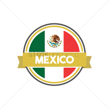 mexican flag label vector image 1618480 stockunlimited