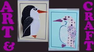 how to make penguin xmas cards for kids art u0026 craft ideas for