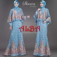 Baju Muslim Brokat dress muslimah bahan brokat bordir payet jual baju muslim kaos
