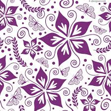 4 designer beautiful purple butterfly floral background vector