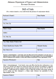 As Is Vehicle Bill Of Sale by Free Arkansas Vehicle Tax Credit Bill Of Sale Form Pdf Word Doc