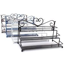 3 tiers alloy nail polish display organizer rack stand cosmetic