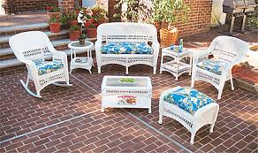 White Rattan Patio Furniture - Outdoor white wicker furniture