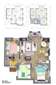 Home Design Cad Software Cad Home Design 4 Bed Room House Design Autocad 3d Cad Model