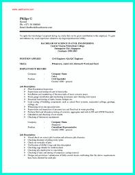 Civil Engineer Resume Template Sample Resume Civil Engineer Singapore Augustais