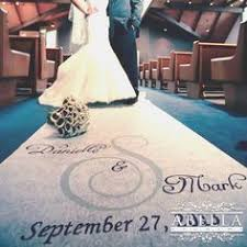 personalized wedding aisle runner diy personalized wedding aisle runner she did it for 23