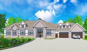 european house plan with circular powder room 81657ab