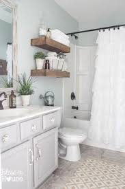 Bathroom Shower Curtain Get The Look Fixer Bathroom House Of Hargrove Get The