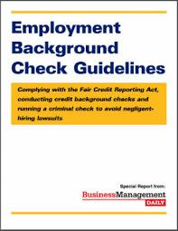 How To Pass A Criminal Background Check Background Check Guidelines Complying With The Fair Credit