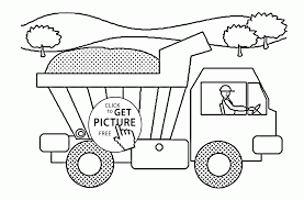 funny dump truck coloring page for kids transportation coloring