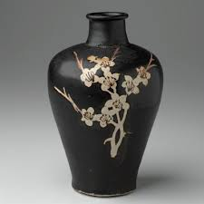 Branch Decor Meiping Bottle With Plum Branch Decor China Mia