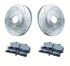 2007 honda accord rotors amazon com 2007 2008 acura tl type s front cross drilled and