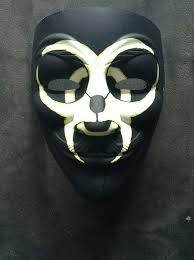 anonymous mask anonymous biohazard gamer custom mask painted fawkes my