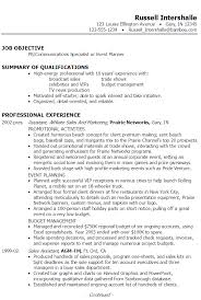 Good Job Objectives For A Resume by Resume Pr Communications Event Planning Susan Ireland Resumes