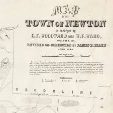 Map Of New Orleans Wards by Woodward And Ward U0027s 1848 Map Of Newton Massachusetts Rare