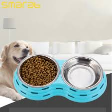 Pet supplies Pet tableware Double round pet dog bowl small dogs