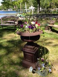 landscape wishing wells with flowers of pleasure however go to