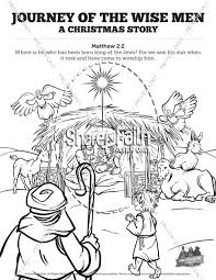Matthew 2 The Magi Christmas Story Sunday School Coloring Pages Wise Worship Coloring Page