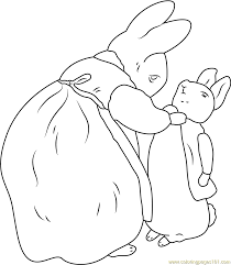 rabbits coloring pages beatrix potter and peter rabbit coloring page free peter rabbit