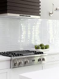 High Sheen Plain White Glass Tiles Look Nice Too Although Maybe - White glass tile backsplash