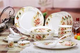 bone china 56pcs ceramic porcelain tableware dinnerware set
