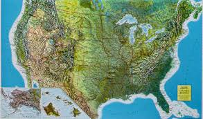 us relief map products united states relief map raised