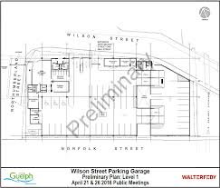 Parking Building Floor Plan Wilson Street Reconstruction And Parkade City Of Guelph