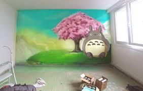 chambre peinture murale enfant inspirations et fresque chambre fille