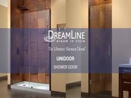 28 Shower Door Dreamline Unidoor 28 X 72 Hinged Frameless Shower Door With