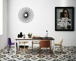 Dining Room Framed Art Dining Room Scandinavian Dining Room With Yellow Eames Style