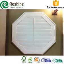paulownia wood octagon window shutters buy octagon window