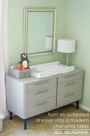 Modern Changing Table Outdated Dresser To Modern Changing Table Real Housemoms