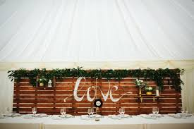 Pallet Wedding Decor Top Tips For Decorating A Marquee Wedding