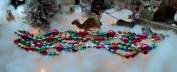 large vintage mercury glass bead tree garland