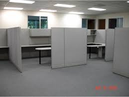 contemporary office office cubicle layout design white and height