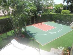 Backyard Tennis Courts Versacourt Backyard Basketball Court Photos U0026 Ideas