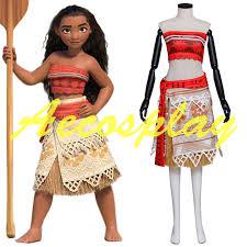 Custom Halloween Costume Aliexpress Buy Newest Movie Moana Cosplay Costume Halloween