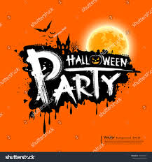 happy halloween party text design on stock vector 114662971