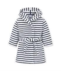 robe de chambre polaire enfant peignoir enfant é blanc lait bleu petit bateau