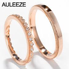 real promise rings images Auleeze real diamond wedding band 18k 750 rose gold engagement jpg