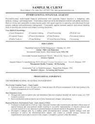 sample of financial analyst resume x financial analyst resume