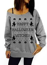 dentz design happy halloween witches slouchy sweatshirt at amazon