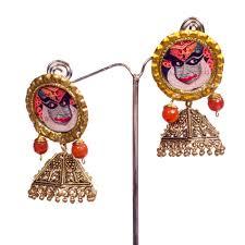 kerala style jhumka earrings buy kathakali jhumka earrings online beyondgallery