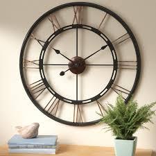 wall clocks august grove drew oversized metal wall clock reviews wayfair