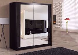 Wardrobe With Shelves by Brand New Roma 2 Door Mirrored Sliding Wardrobe With Shelves