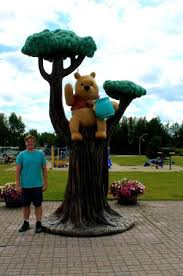 cute winnie pooh statue white river ontario picture