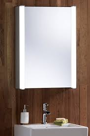 led illuminated bathroom mirror cabinet with wire free demister